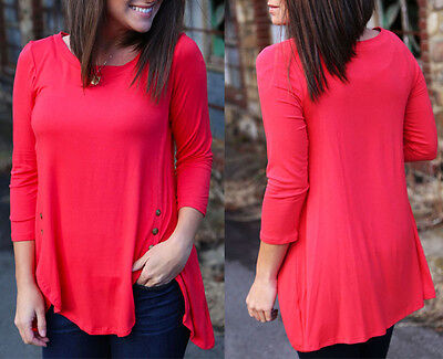 Fashion Blouse Women Casual New Cotton Blouse T-Shirt Loose Tops Long Sleeve