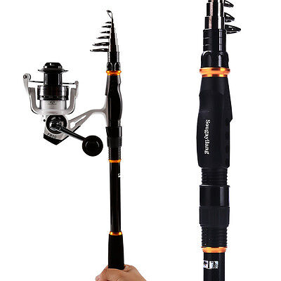 Carbon Fishing Rod Surf Telescopic Spinning Fishing Rod with Reel Combos Kits
