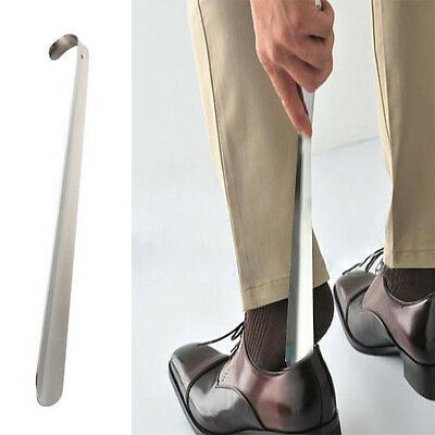 Elegant Durable Handle Professional Metal Shoe Horn Lifter Long Shoespooner 30cm