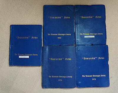 Ansearchin' News Lot - 20 Issues 1961 62 73 74 76 Tennessee Memphis Genealogy