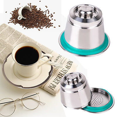 Stainless Steel Reusable Refillable Coffee Capsule Set Fit for Nespresso Machine