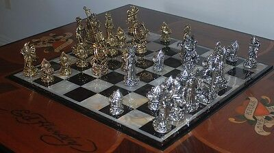 "Tigrani ""Ed Hardy"" Sterling Silver Chess Set"