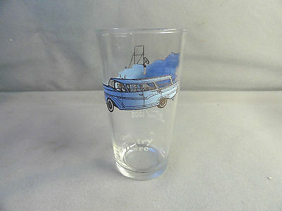 """Vintage FORD MODEL 1908 and Country Squire Drink Glass Anchor Hocking 5"""""""