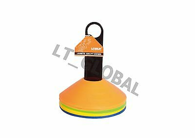 Agility Cones Disc Soccer Football Coaching Training Space Equipment - 20pcs