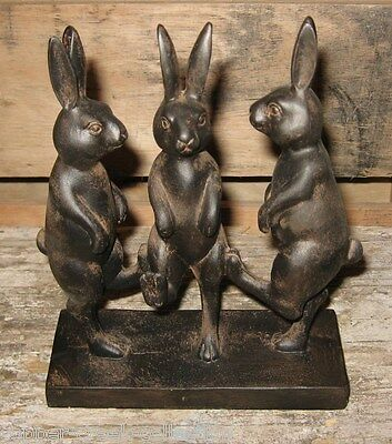 Dancing BUNNY RABBIT Statue*Primitive/French Country Garden Room Decor