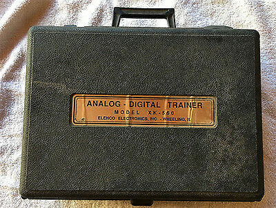 Elenco XK-550 Analog Digital Trainer With Case - Powers On, Untested