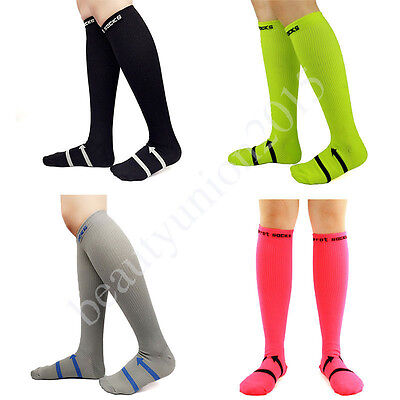 Men Women Compression Tube Socks Knee High Stockings Graduated Support 20-30mmHg