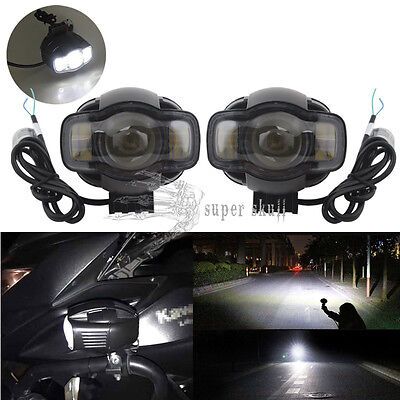 Charged USB Motorcycle LED Headlight Fog Light Safety Lamp for BMW K1600 R1200GS
