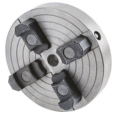 Grizzly H8048 6-Inch 4-Jaw Chuck, 3/4-Inch by 16 TPI