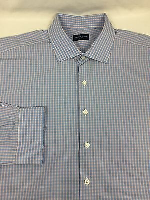 proper cloth luxury dress shirt blue tattersall checks large l