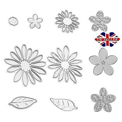 10XChrysanth Flower Cutting Die Scrapbooking Stencil Embossing Paper Album Craft