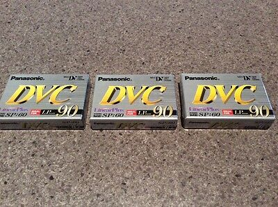 3 X PANASONIC DVC 90 Digital Video cassette Mini AY-DVM60EF Camcorder