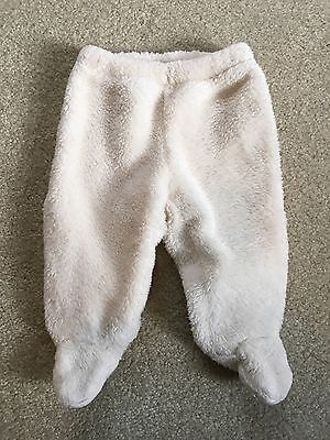 GUC BABY GAP Unisex Boy Girl Ivory Sherpa Footed Pants 0-3 months