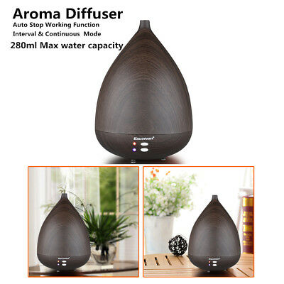 LED Electric Ultrasonic Humidifier 7 Color Changing Essential Oil Aroma Diffuser