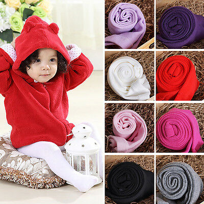 Newborn Toddler Baby Girl Solid Color Pantyhose Tights Stockings Pants Cozy