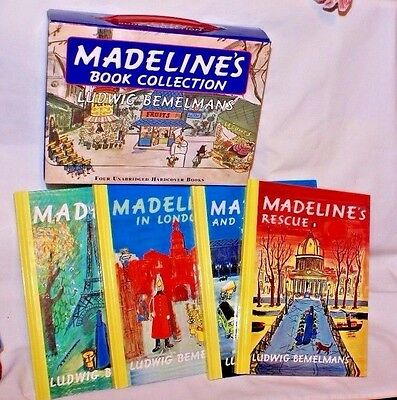 Madeline's Book Collection, A Box Set w/handle of 4 Unabridged Hardcover Books