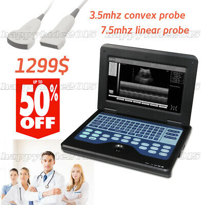 CE Portable Ultrasound Scanner Machine Laptop Machine with Linear+Convex 2 probe