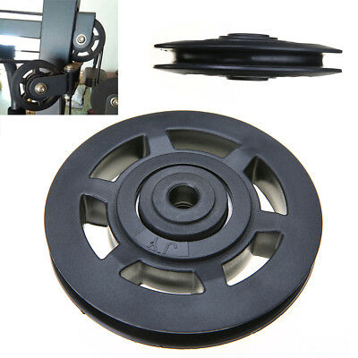 95mm Black Bearing Pulley Wheel Cable Gym Equipment Part Wearproof Fitness Tool