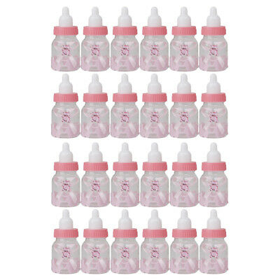 24 Pieces Fillable Candy Bottles for Party Gift Baby Shower Pack,Pink