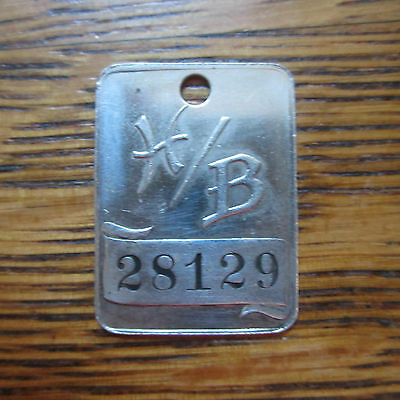 vintage HB Hess's HESS BROTHERS BRO. keychain Charge Credit TOKEN 28129 Fob