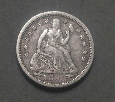 1855 10C Arrows Liberty Seated Dime