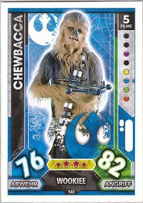 Topps Star Wars Force Attax Universe Karte Nr.122 Chewbacca
