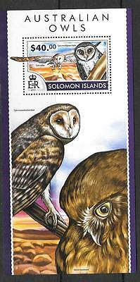 Solomon Islands 2015 Australian Owls (2) Mnh