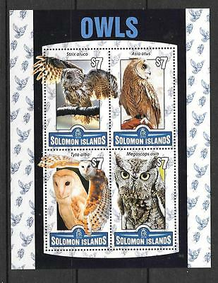 Solomon Islands 2016 Owls  (1) Mnh