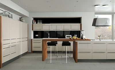 Laser Edged Cream High Gloss Replacement Kitchen Cabinet Unit Doors Drawer Front