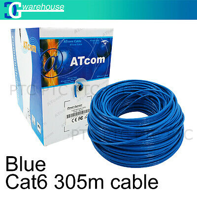 Cat6/Cat 6 305m UTP Ethernet Network Solid Cable Roll Box 10/100/1000mbps