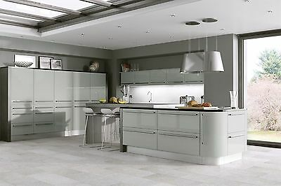 Laser Edged Mussel Gloss Replacement Kitchen Cabinet Unit Doors Drawer Front