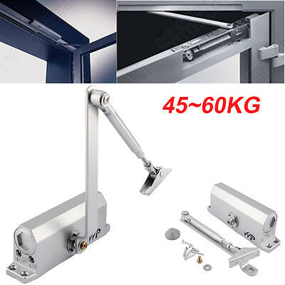 45-60KG Adjustable Overhead Door Opener Closer Heavy Duty Fire Rated DoorClosure