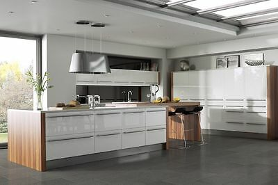 Laser Edged White High Gloss Replacement Kitchen Cabinet Unit Doors Drawer Front