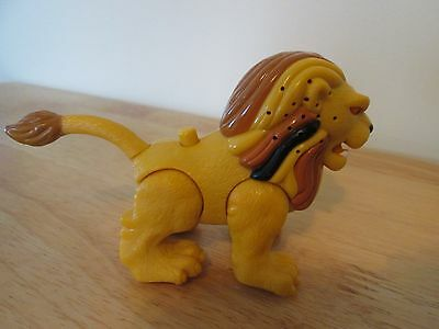 Vintage Roaring Lion with Black, Brown and Yellowish Mane Figurine