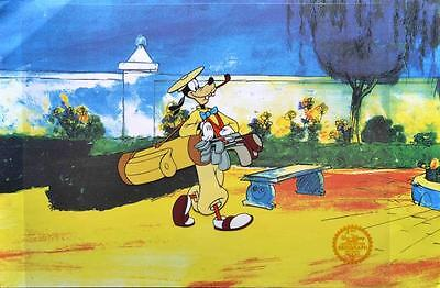 Disney How To Play Golf Goofy Serigraph Cel Lot 100