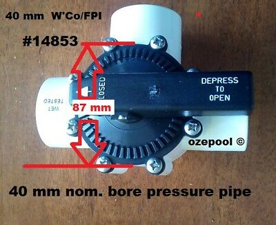 40mm(48mmOD) 3 WAY VALVES FPI, Pool Plumbing DIY , must buy whole valve NO PARTS