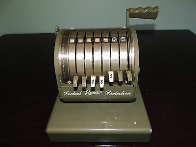 Vintage Paymaster Series x-550 Check Writer with Keylock Protection *IT WORKS*
