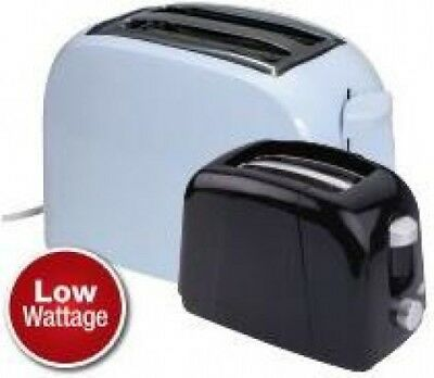 Quest Low Wattage 2 Slice Toaster Campsite Caravan Motorhome | Black