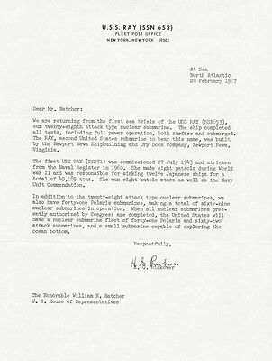 Hyman G. Rickover - Typed Letter Signed 02/28/1967