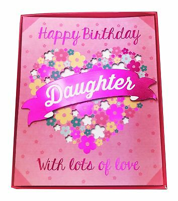 3d Boxed Happy Birthday Card For Daughter Her Pink Floral Ladies