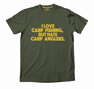 Navitas Apparel Carp Fishing Love N Hate Tee T-Shirt *All Sizes Available*