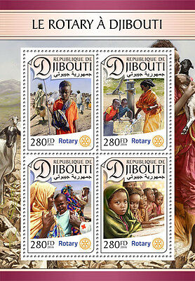 Djibouti 2016 MNH Rotary International 4v M/S Humanitarian Aid Medical Stamps