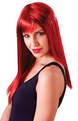 FANCY DRESS Passion Long straight Passion Red wig
