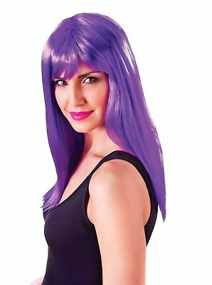FANCY DRESS Passion Long. Neon Purple Wig