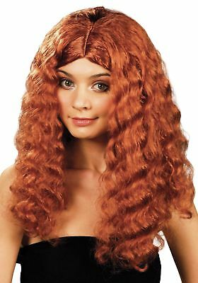 FANCY DRESS Frizzy Long Auburn Wig