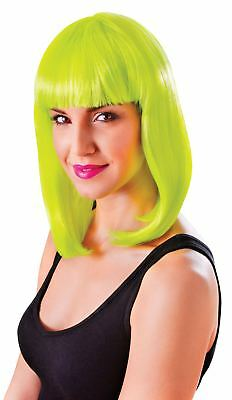 FANCY DRESS Chic Doll short Neon Yellow wig