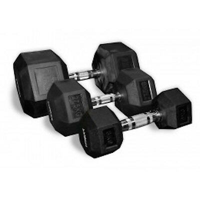 Rubber Hex Weighted Dumbbells (Pairs) 1kg - 60kg Corex Commercial Gym Crossfit