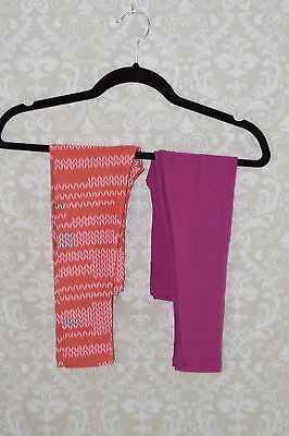 LuLaRoe NWT Kids leggings size S/M - Lot of 2 solid pink & coral pink patterned