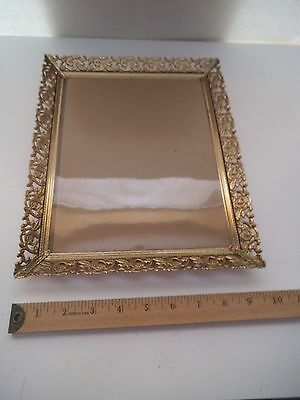 Vintage Gold Metal Rose Decorated 8X10 Picture Frame