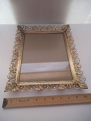 Vintage Gold Metal Decorated 8X10 Picture Frame